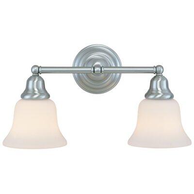 Brockport 2-Light Vanity Light Finish: Satin Nickel
