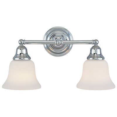 Brockport 2-Light Vanity Light Finish: Chrome