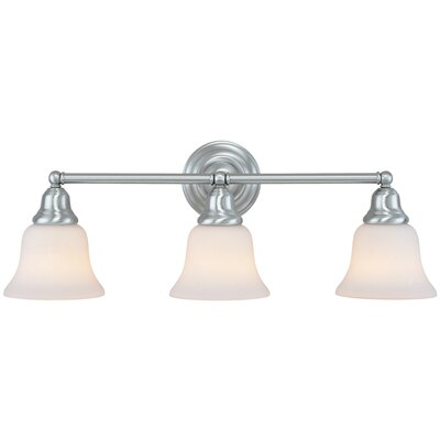 Brockport 3-Light Vanity Light Finish: Satin Nickel