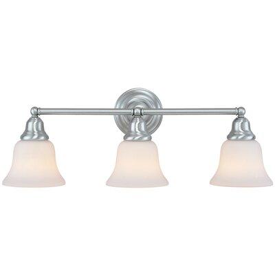 Brockport 3-Light Vanity Light Finish: Satin Nickel