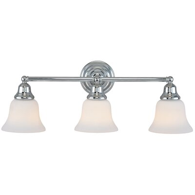 Brockport 3-Light Vanity Light Finish: Chrome