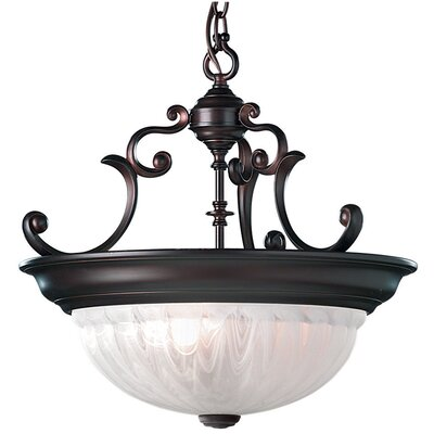 Bainsbury Traditional 3-Light Inverted Pendant Finish: Royal Bronze