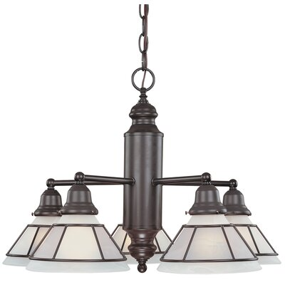 Craftsman 5-Light Shaded Chandelier