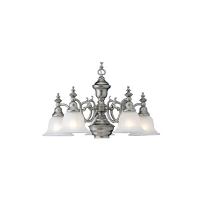 Bainsbury 5-Light Shaded Chandelier Finish: Satin Nickel