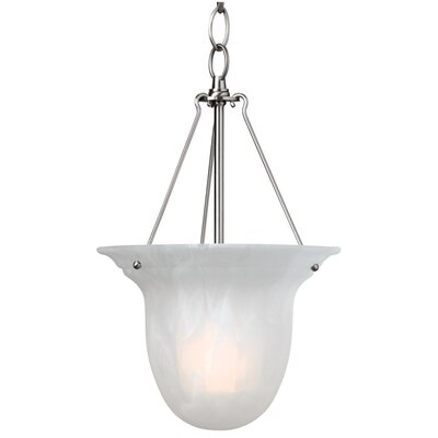 Bainsbury 1-Light Foyer Pendant Finish: Satin Nickel