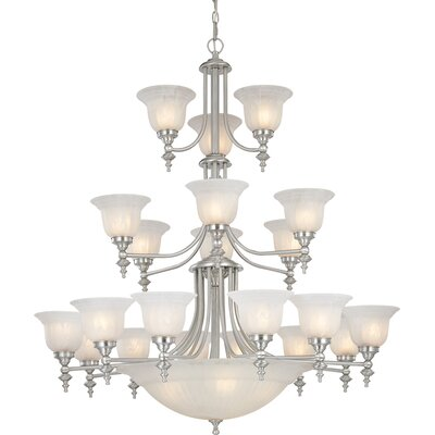 Bainsbury 24-Light Shaded Chandelier Finish: Satin Nickel