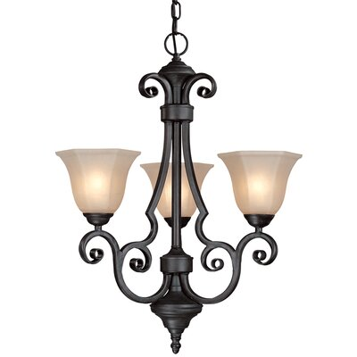 Winston 3-Light Shaded Chandelier