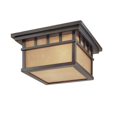 Teminot Rustic 2-Light Flush Mount Finish: Winchester