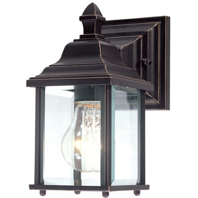 Charleston 1-Light Outdoor Wall Lantern Finish: Antique Bronze