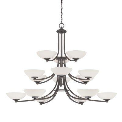Rainier 15-Light Shaded Chandelier Finish: Bolivian