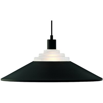 Pinnacle 1-Light Bowl Pendant Finish: Black