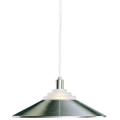 Pinnacle 1-Light Bowl Pendant Finish: Satin Nickel