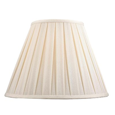 Large Box Pleat Linen Empire Lamp Shade (Set of 4) Shade Color: White