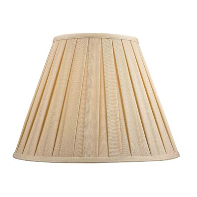 Large Box Pleat Linen Empire Lamp Shade (Set of 4) Shade Color: Dark Beige