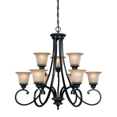 Hastings 9-Light Shaded Chandelier