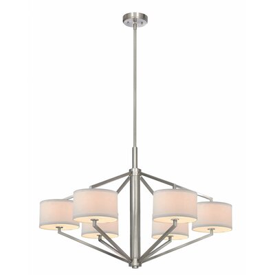 Cervantes 6-Light Drum Chandelier Finish: Satin Nickel