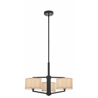 Cervantes 3-Light Drum Pendant Finish: Ebony Bronze
