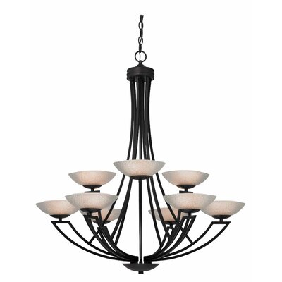 Delany 9-Light Shaded Chandelier