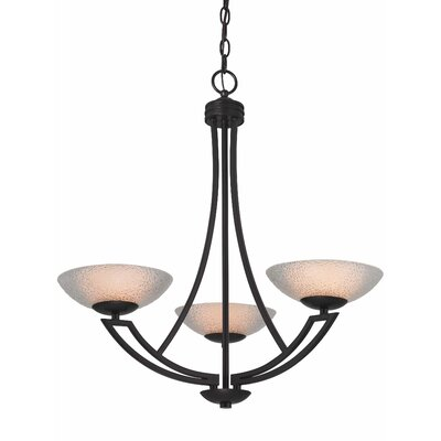 Delany 3-Light Shaded Chandelier