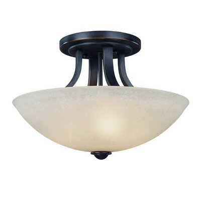 Fireside 3-Light Semi Flush Mount