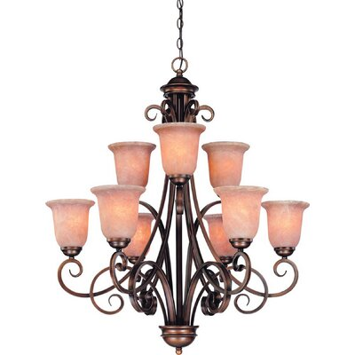 Medici 9-Light Shaded Chandelier