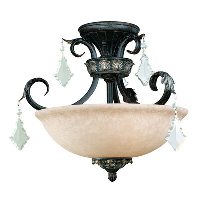 Florence 3-Light Semi Flush Mount