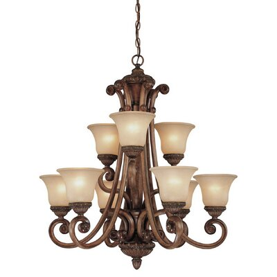 Carlyle 9-Light Shaded Chandelier