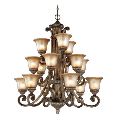 Carlyle 15-Light Shaded Chandelier