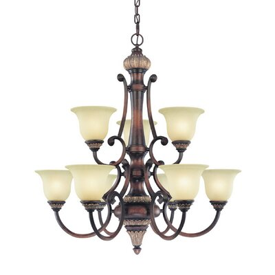 Bonita 9-Light Shaded Chandelier