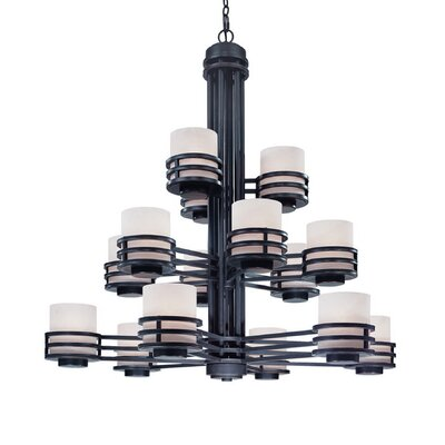 Saturn 15-Light Shaded Chandelier