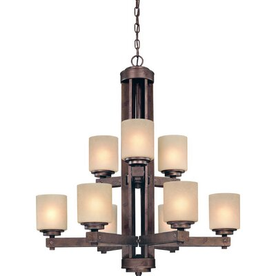 Sherwood 9-Light Shaded Chandelier