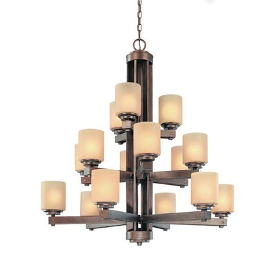 Sherwood 15-Light Shaded Chandelier