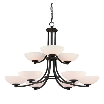 Rainier 9-Light Shaded Chandelier Finish: Bolivian