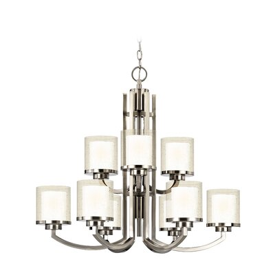 Horizon 9-Light Shaded Chandelier
