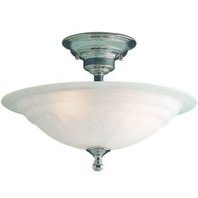 Richland Semi Flush Mount Finish: Satin Nickel