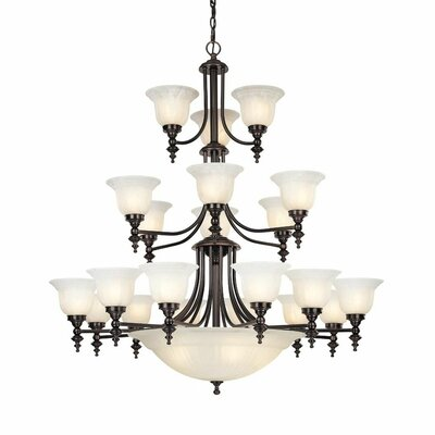 Bainsbury 24-Light Shaded Chandelier Finish: Royal Bronze