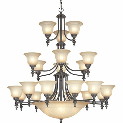 Richland 24-Light Shaded Chandelier Finish: Bolivian
