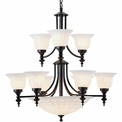 Bainsbury 14-Light Shaded Chandelier Finish: Royal Bronze