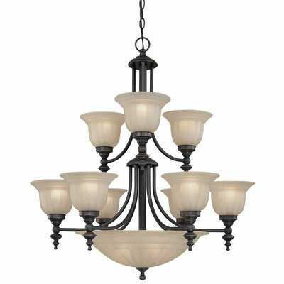 Richland 14-Light Shaded Chandelier Finish: Bolivian