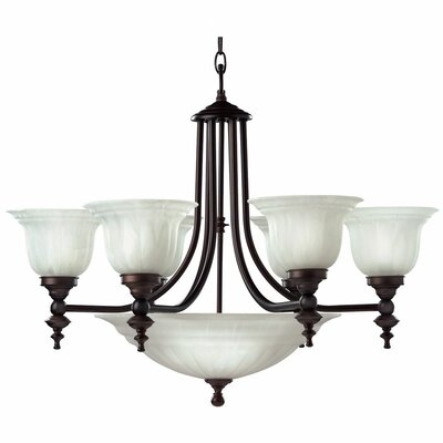 Bainsbury 9-Light Shaded Chandelier Finish: Royal Bronze