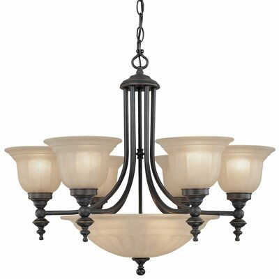 Richland 9-Light Shaded Chandelier Finish: Bolivian