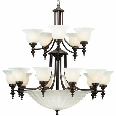 Bainsbury 18-Light Shaded Chandelier Finish: Royal Bronze