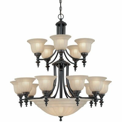 Richland 18-Light Shaded Chandelier Finish: Bolivian