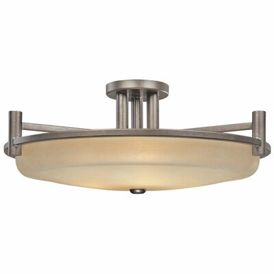 Cortona 3-Light Semi Flush Mount Size: 11 H x 27.5 W