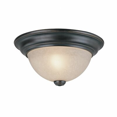 Fireside 1-Light Flush Mount Size: 4.75 H x 11 W