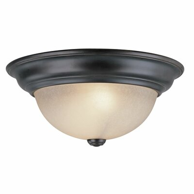 Fireside 1-Light Flush Mount Size: 5.75 H x 14 W