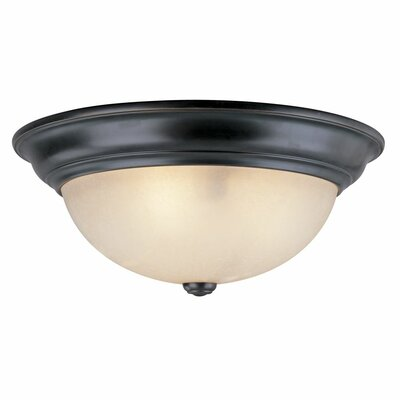 Fireside 1-Light Flush Mount Size: 6.25 H x 16 W