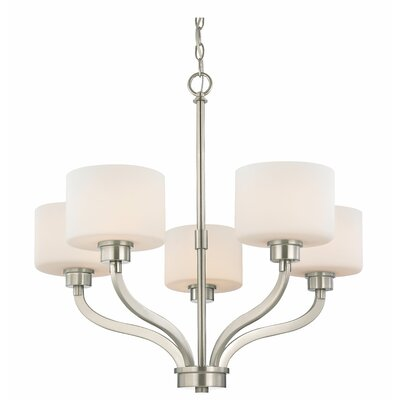 Kalina 5-Light Shaded Chandelier Finish: Satin Nickel