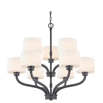 Kalina 9-Light Shaded Chandelier Finish: Warm Bronze