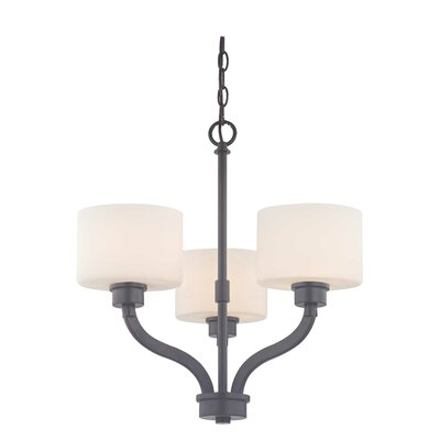Kalina 3-Light Shaded Chandelier Finish: Warm Bronze